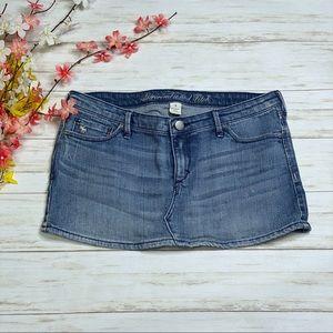 Abercrombie & Fitch Denim Jean Micro Mini Skirt